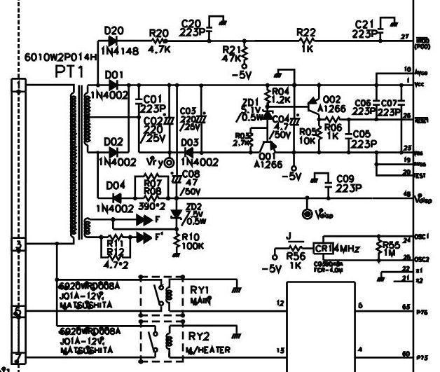 Схема микроволновки samsung m1736nr схема