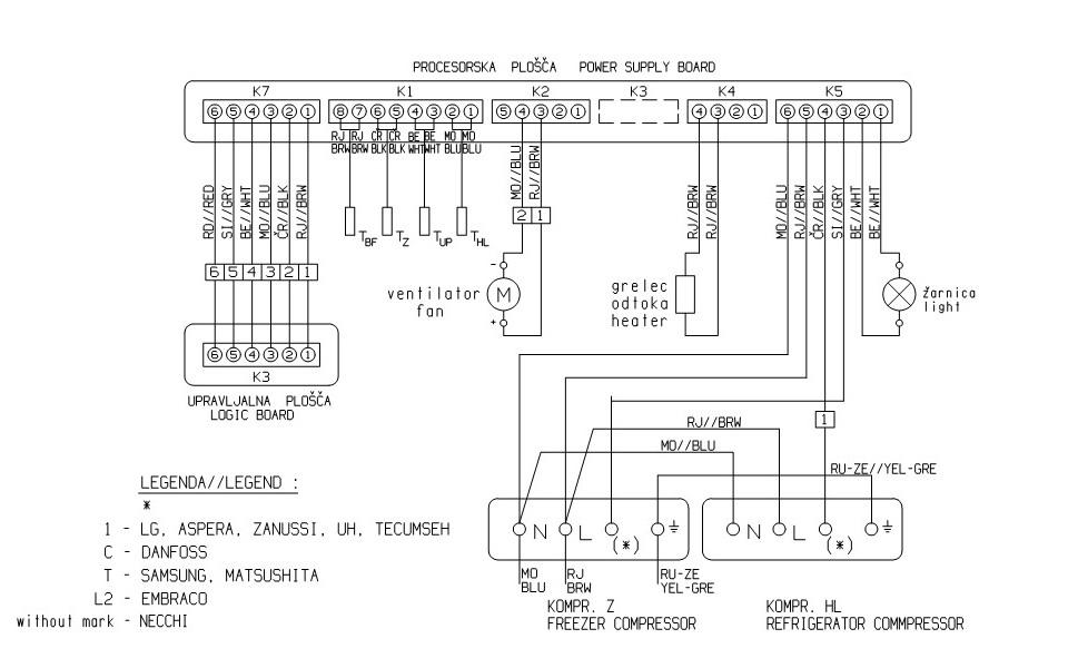 Схема холодильника Gorenje