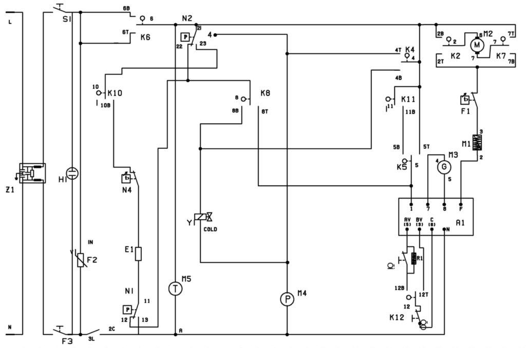 4.Схема стиральной машины Bosch WFF1200.