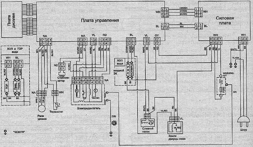 Электронная схема стиральной машины 4