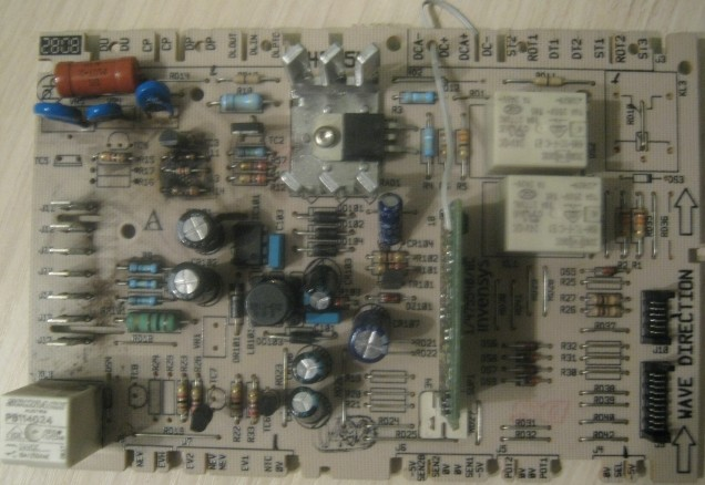 Фото модуля с проводком, вид сверху